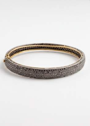 Lera Jewels black pave diamond bangle bracelet (Default)