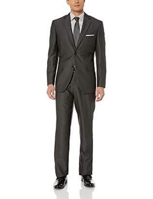 Exte SE SALVATORE Men's Two Button Sharkskin Suit