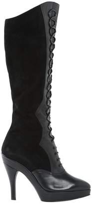 Alaia Vintage Black Leather Boots