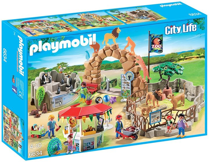 Playmobil Large City Zoo Building Kit