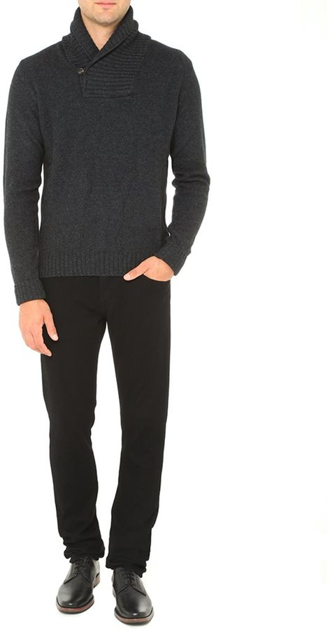 AG Jeans The Shawl Collar Sweater - Charcoal Melange