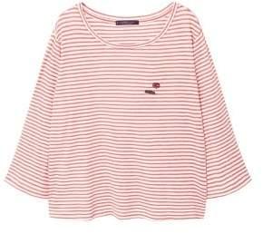 Violeta BY MANGO Appliqu??s striped t-shirt