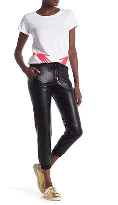 HAPPINESS Faux Leather Joggers