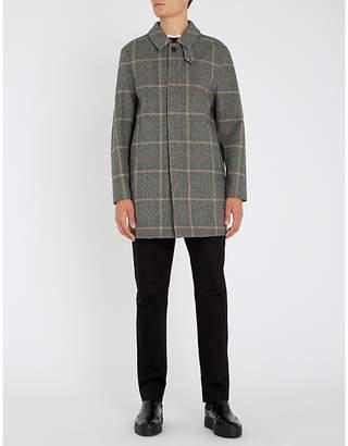 MACKINTOSH Longline checked wool coat