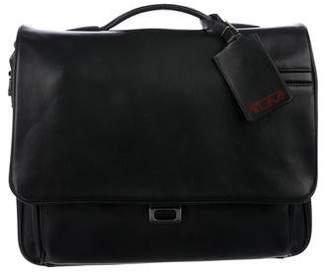 Tumi Leather Fold-Over Briefcase