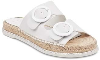 Marc Fisher Women's Mlramba Leather Espadrille Slide Sandals