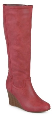 Journee Collection Langly Wide Calf Wedge Boot