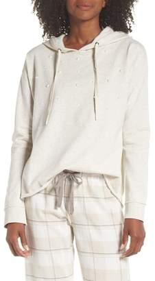 PJ Salvage Imitation Pearl Embellished Hoodie