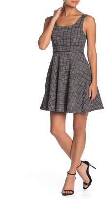 Ash MAX & Plaid Tweed Skater Dress
