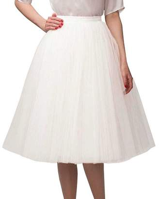 508e90bc3 CoutureBridal Tutu Tulle Midi Skirts A Line Tea Length Prom Petticoat  Ballet Skirt