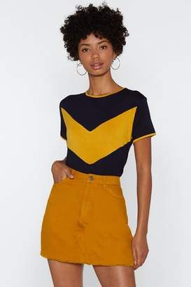 Nasty Gal You're the Chevron That I Want Ringer Tee