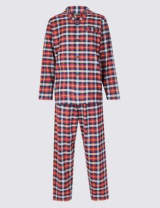 Marks and Spencer Big & Tall Brushed Cotton Checked Pyjama Set