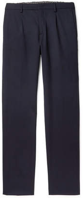 Loro Piana Virgin Wool-Blend Drawstring Trousers - Men - Navy