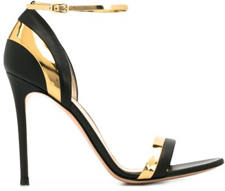 Gianvito Rossi two-tone high-heeled sandals