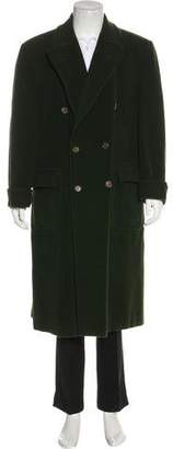 Hermes Double-Breasted Cashmere & Angora-Blend Coat