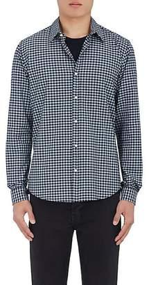 Barneys New York Men's Gingham Cotton Shirt - Green