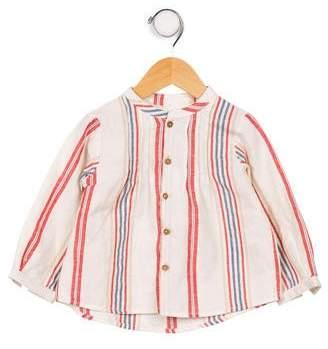 Nanos Boys' Striped Button- Up Shirt