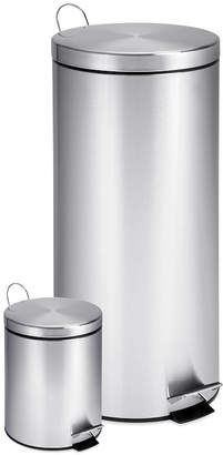 Honey-Can-Do 30- and 3-Liter Stainless Steel Step Trash Can Combo