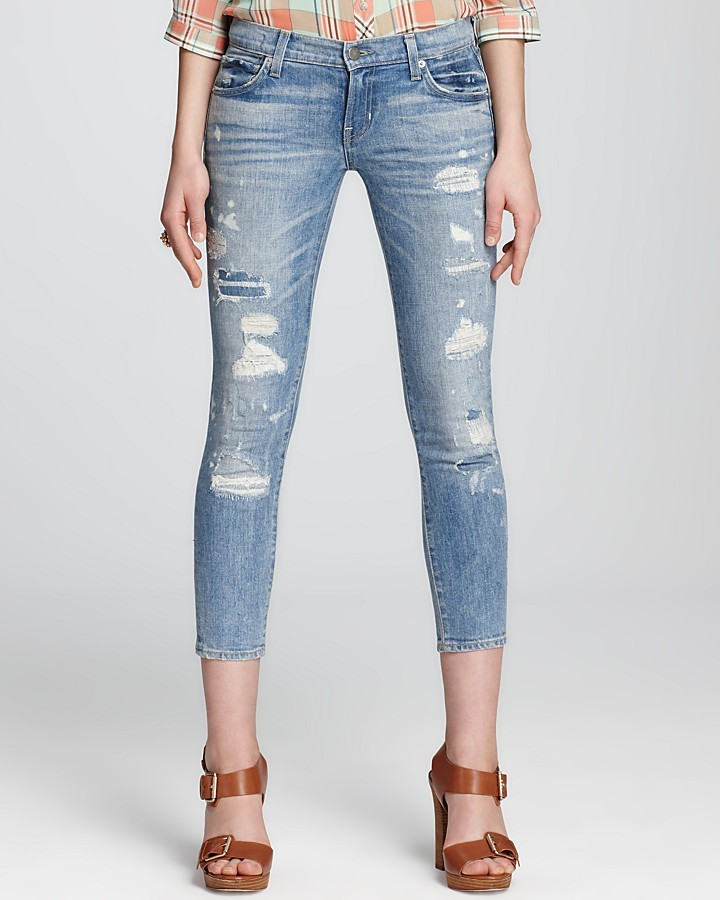 Elizabeth and James Textile by Jeans - Ozzy Skinny in Rip & Repair