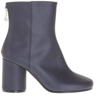 Maison Margiela Satin Effect Calfskin Ankle Boots