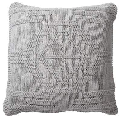 Santa Clara Textured Knit Wool Pillow – Grey – 20″ x 20″