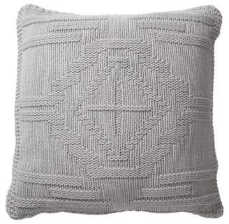 "Pendleton Santa Clara Textured Knit Wool Pillow - Grey - 20\"" x 20\"""