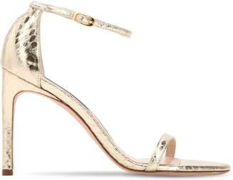 5dae48207284 Stuart Weitzman 100mm Nudist Metallic Snakeskin Sandals