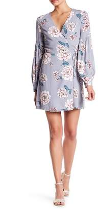 Everly Long Sleeve Floral Wrap Dress
