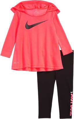 Nike Dry 2-Piece Hooded Tunic & Leggings Set