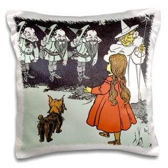 3dRose Dorothy and Toto Wizard of Oz vintage, Pillow Case, 16 by 16-inch