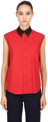 Prada Button Down Cotton Poplin Shirt