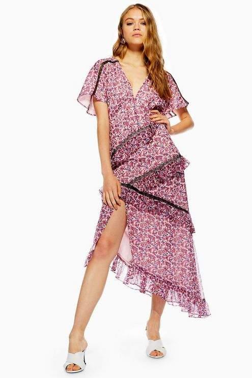 Ditsy Cluster Midi Dress