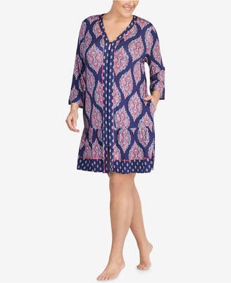 Ellen Tracy Plus Size Printed Jersey Sleepshirt