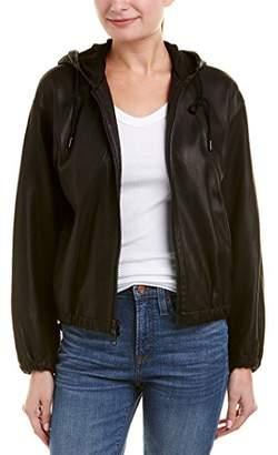 Vince Women's Leather Zip up Hoodie