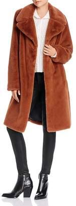 Aqua Wide-Lapel Faux-Fur Coat - 100% Exclusive