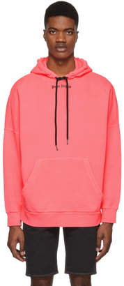Palm Angels Pink Over Hoodie