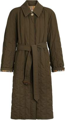 Burberry quilted gabardine coat