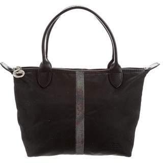 Longchamp Mini Leather-Trimmed Nylon Tote