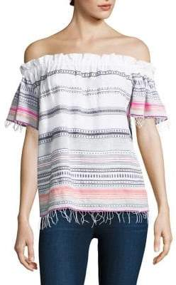 Lemlem Kal Stripe Off-The-Shoulder Top