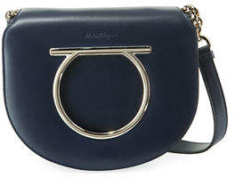 Salvatore Ferragamo Gancio Vela Leather Shoulder Bag