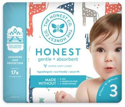 The Honest Company Honest 27-Pack Size 3 Diapers in Multicolored Giraffe Pattern