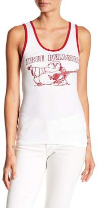 True Religion Ribbed Knit Logo Tank Top