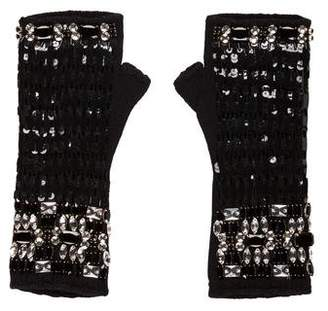 Dolce & Gabbana Embellished Fingerless Gloves