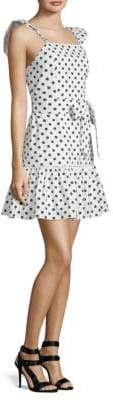 Alice + Olivia Farah Polka Dot Mini Dress