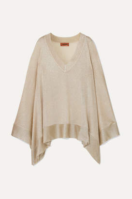 Missoni Lurex Poncho - Gold