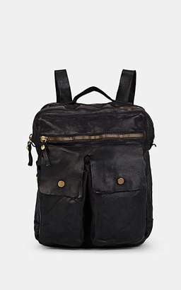 Campomaggi Men's Leather Backpack - Black