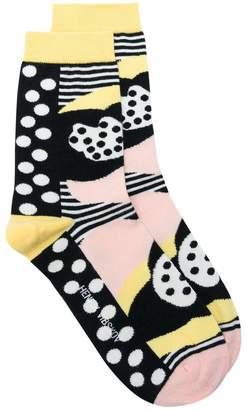 Henrik Vibskov Heartbeat printed socks