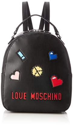 Love Moschino Borsa Soft Nappa Pu Nero, Women's Backpack Handbag,10x28x24 cm (B x H T)