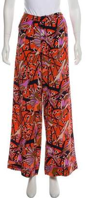 Marc Jacobs Silk Bird-Printed Pants w/ Tags