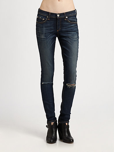 Rag and Bone Slim-Fit Skinny Jeans